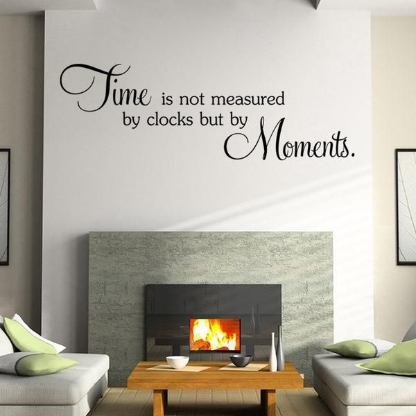 Wall Stickers Time Quote Wall Decals Decorations Living Room Sticker Bedroom Part 92