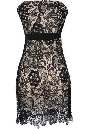 Crochet Lace Strapless Dress