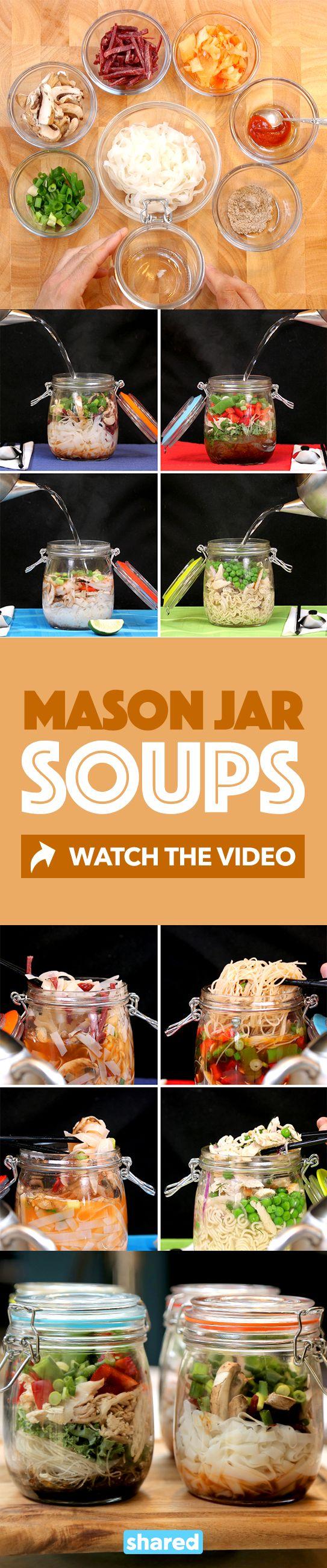 Mason Jar Soup 4 Ways