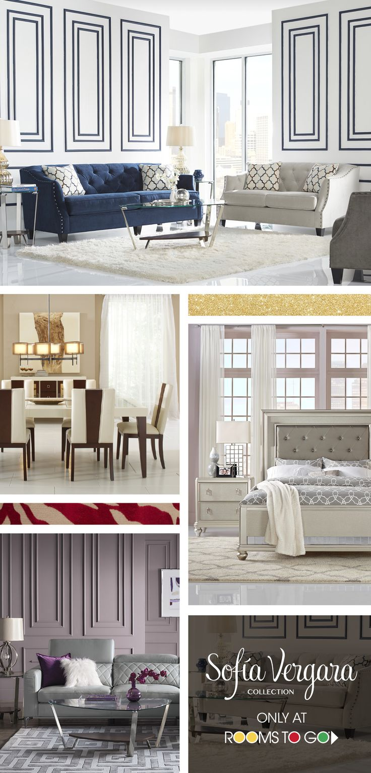 Glamorous home designs that capture the stunning contemporary style of Sofia Vergara. Shop her collection of living room, dining room and bedroom furniture now!