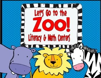 Let's Go to the Zoo!--Literacy and Math Centers for K/1