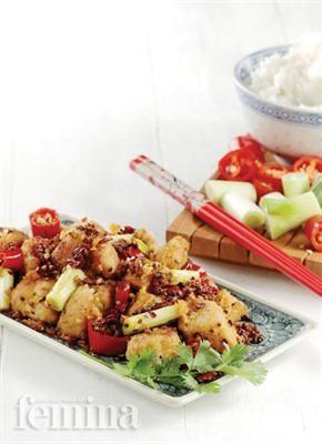 Femina.co.id: Ayam Cabai Szechuan #resep
