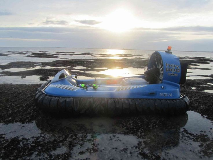 Mud and Tides Pose No Problem for the Hov Pod Commercial Hovercraft
