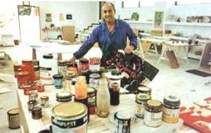 The painter Cesar Manrique in his studio in Haria - the boutique hotel would be situated near his inspirational home/museum