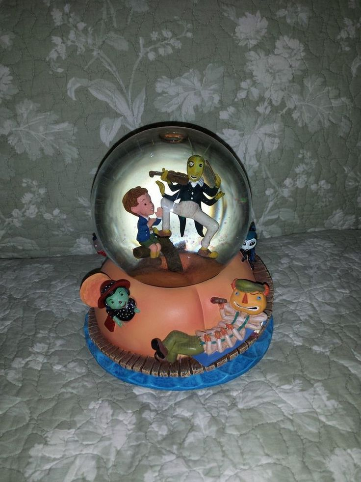 33 best snow globes halloween images on pinterest snow snow super rare only mint disney james and the giant peach snow globe in months gumiabroncs