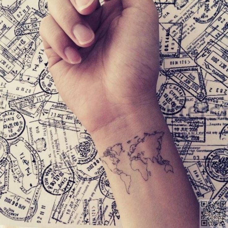 35. #mappemonde - 44 délicats et #féminins des tatouages... → #Beauty