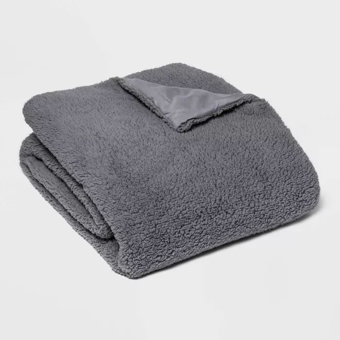 50 X 70 Sherpa Weighted Blanket With Removable Cover Room Essentials With Images Grey Room Room Essentials Removable Cover