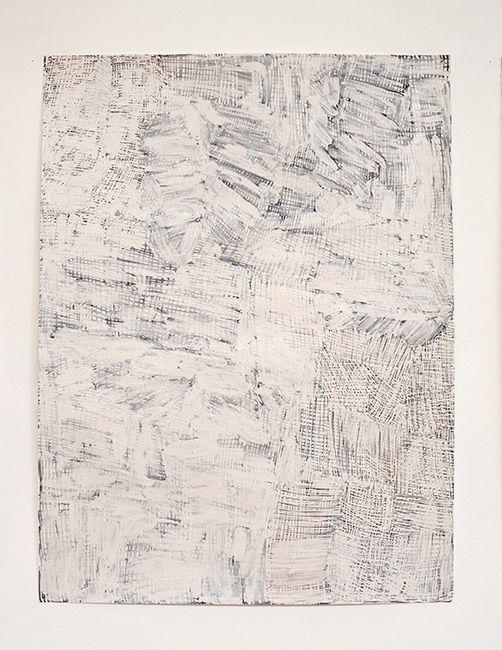 Nyapanyapa Yunupingu Djorra (paper) 10, 2014 TPA115 felt tip pen, earth pigments on discarded print proofs 75 × 56cm