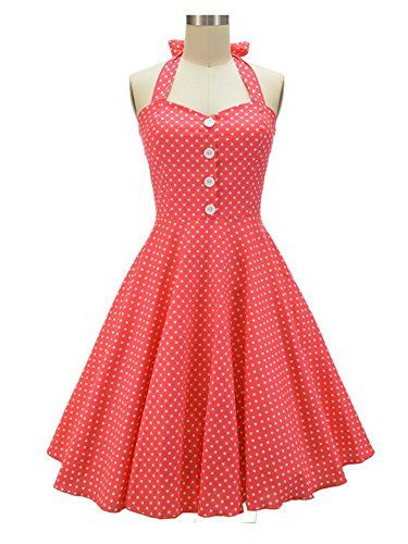 HongyuTing Womens 50s 60s Vintage Retro Swing Rockabilly Picnic Party Dress * ** AMAZON BEST BUY **
