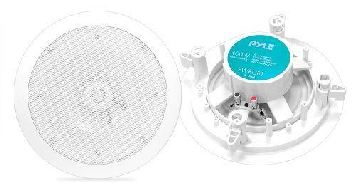 Pyle Home PWRC81 8Inch Weather Proof 2Way InCeiling  InWall Stereo Speakers Pair -- Details can be found by clicking on the image.