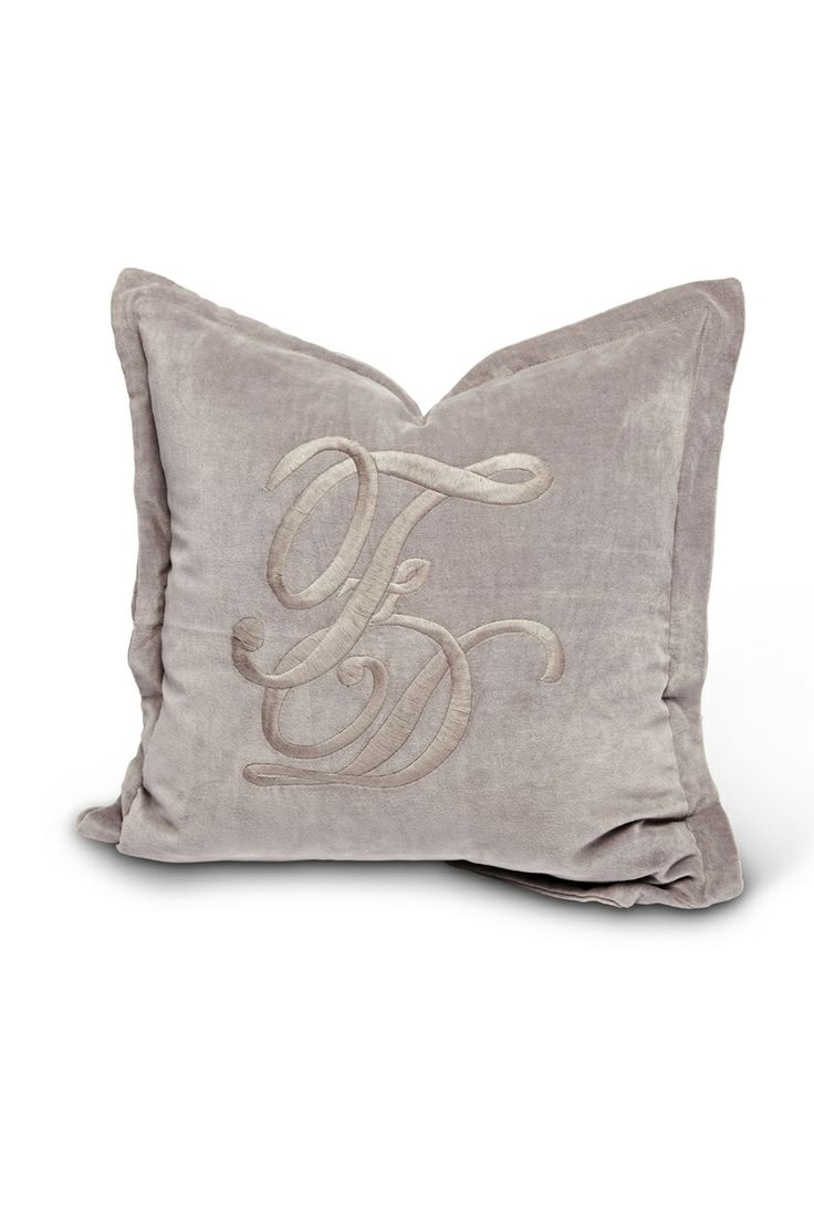 Florence Design pillowcase with F&D Monogramm for Spring/Summer 2014 in opal grey!