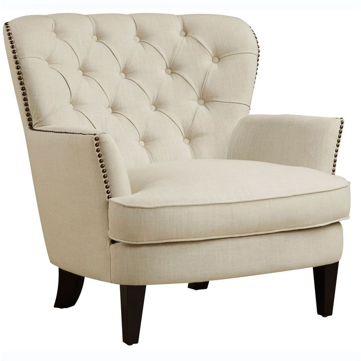 Pri Celine Flour Upholstered Arm Chair In Beige. Accent Arm Chairs