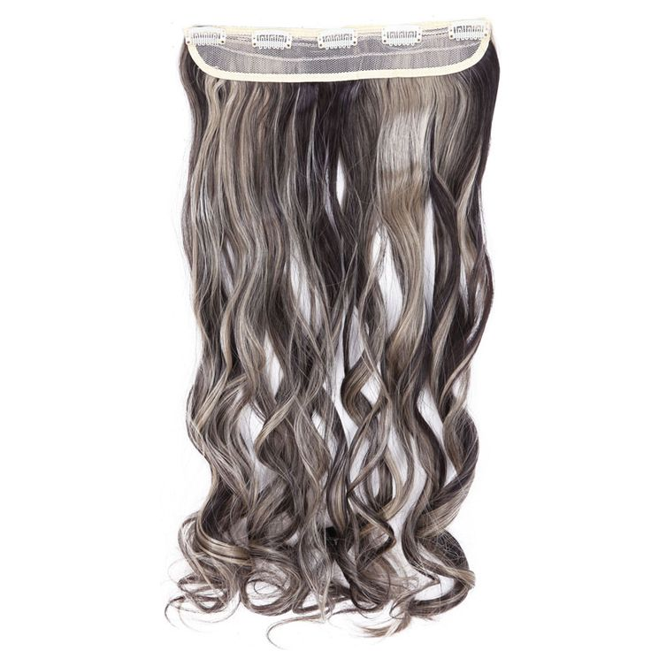 SNOILITE 26inch Women Hair Extensions Curly Long Synthetic Woman Clip in Hair Extention Hairpieces Ombre Hairstyles