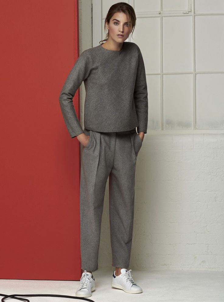 #GiorgioArmani wool top and trousers