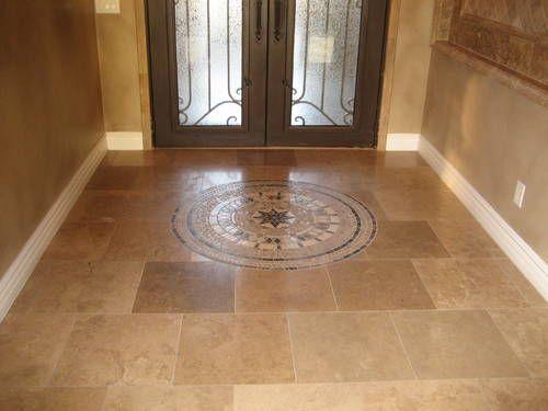 Beautiful hallway travertine tile 18x18 designs
