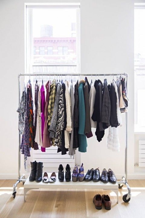 Charming Free Standing Clothing Racks To Show Off Your Favourite Pieces. Amazing  Closets + 10 Closet Organizing Tips Pictures