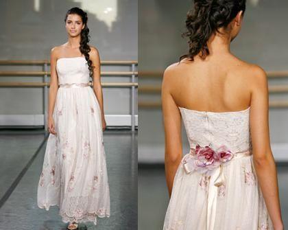 Fabulous Semi Casual simple cotton Wedding Dresses Dress Silk Cascade Chiffon Dress Illuna