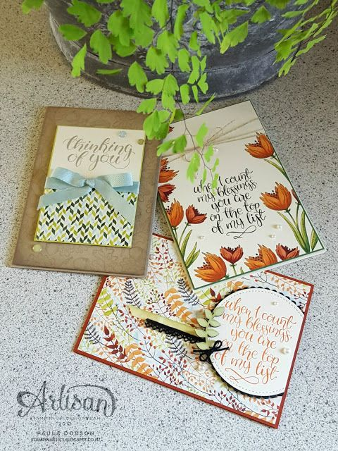 Feature the Count My Blessing stamp set and get ahead with your card stash - Paula Dobson  #pauladobson #stampinantics #artisandesignteam #countmyblessingsstampset