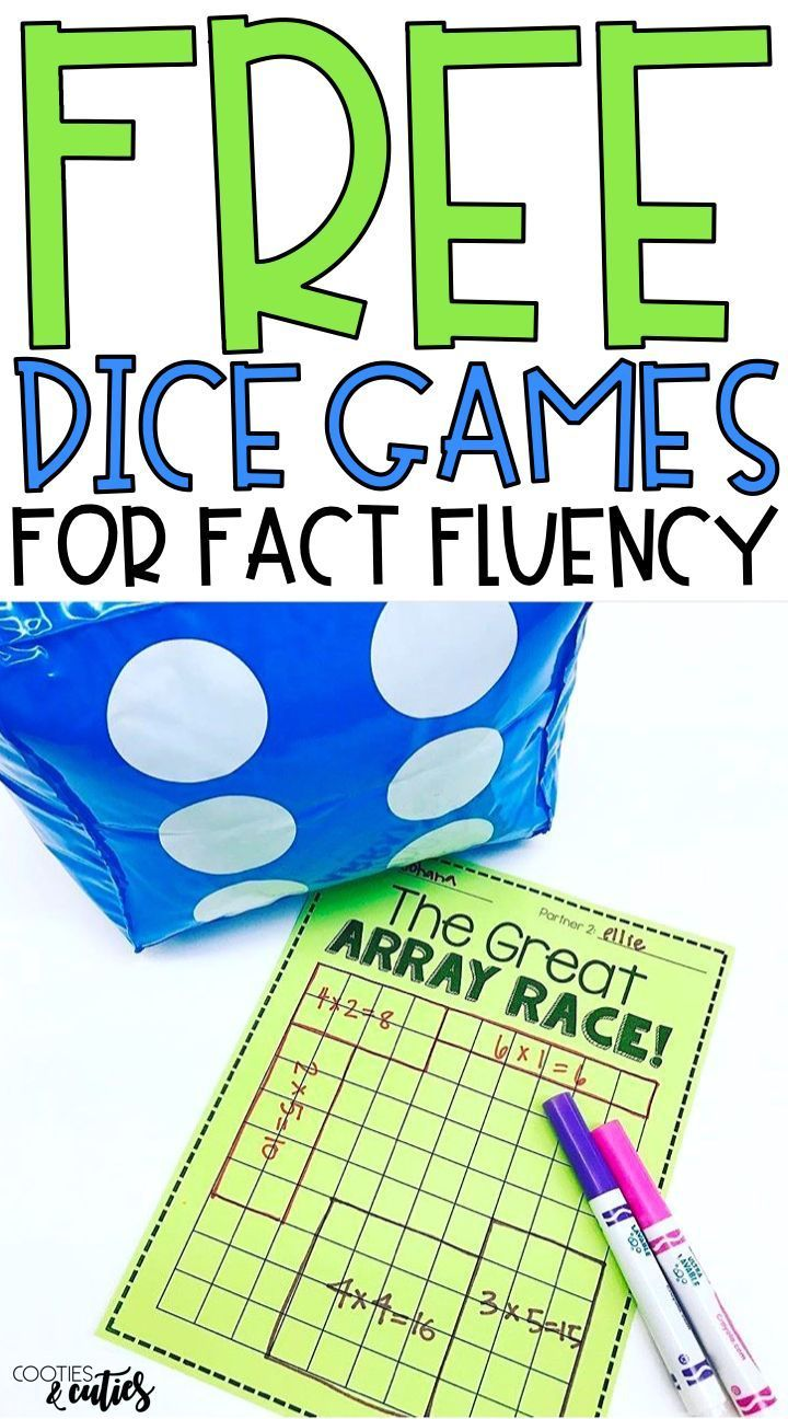 Fact fluency freebie! Dice games to enhance your students' multiplication skills #mathtutoring