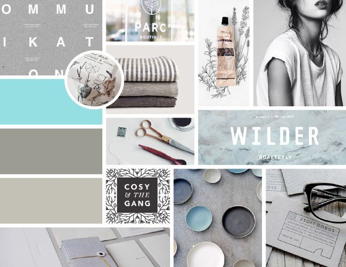 Client Moodboard: personal & crisp: mood boards work for PowerPoint too