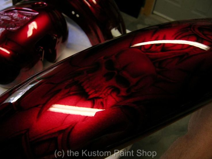 Ghost Skull Paint Job Motorcycles