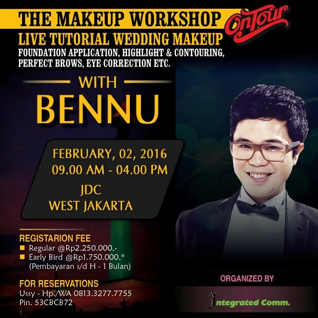 THE MAKEUP WORKSHOP ON TOUR WITH BENNU AT JAKARA