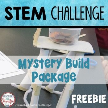 STEM Challenge: This is a spectacular STEM event! Students have a mystery to solve with what they are building and what materials they will need to be successful!In this challenge students will be assigned a structure to build and a list of possible materials.