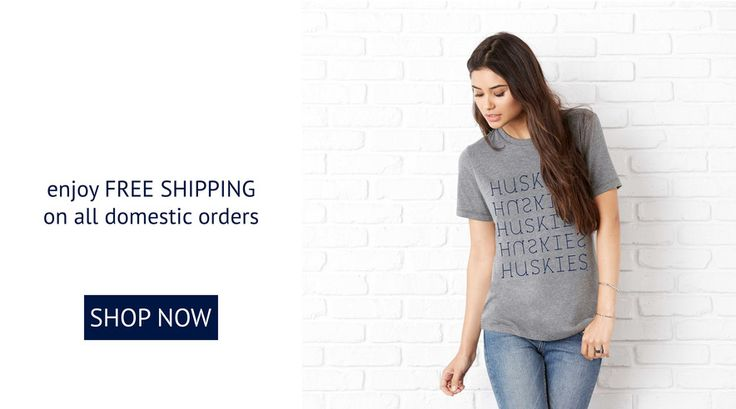 Officially Licensed UConn® Huskies™ t-shirts, tank tops, raglans, and fleeces, along with other carefully curated apparel for Connecticut ladies.