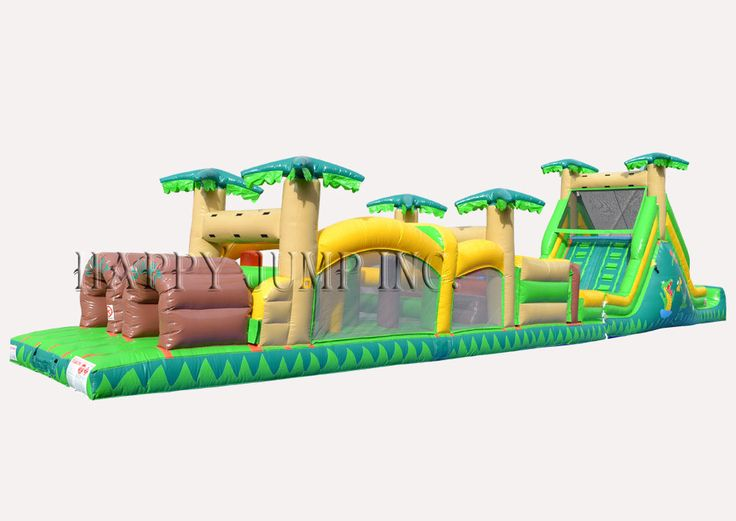 Obstacle Course 3 Tropical: Moonwalks | Inflatable Water Slides | Bounce House | Inflatable Bouncers, Water Slides by Happy Jump