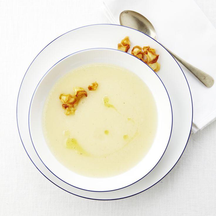 Recept soep van pastinaak en knolselder met pastinaakchips