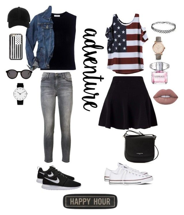"""""""couple casual"""" by dindameitiza on Polyvore featuring A.L.C., Gap, Current/Elliott, Miss Selfridge, NIKE, Converse, Lancaster, Forever 21, Rosendahl and FOSSIL"""