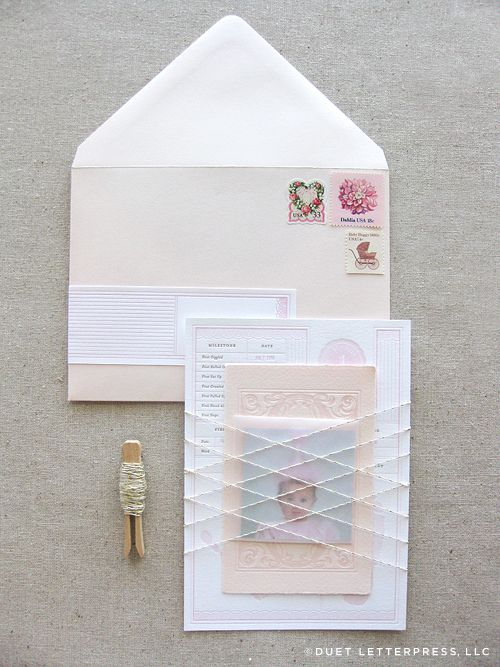 This is the most beautiful 1st birthday invitation suite - be sure to click through for other photos of it!