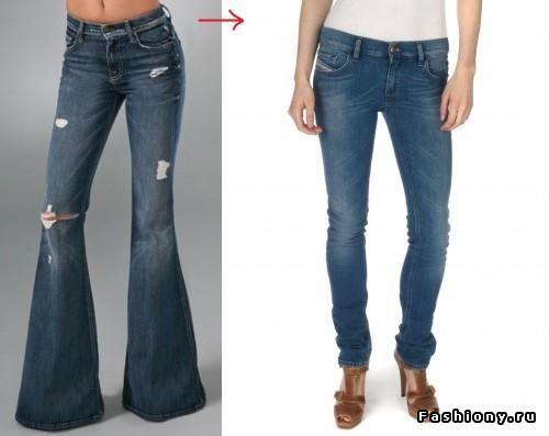 Как делать узкие штаны