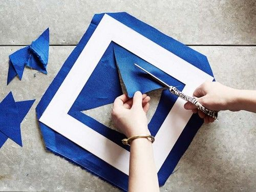 Super easy way to make matching fabric covered (or paper covered) frame mats.