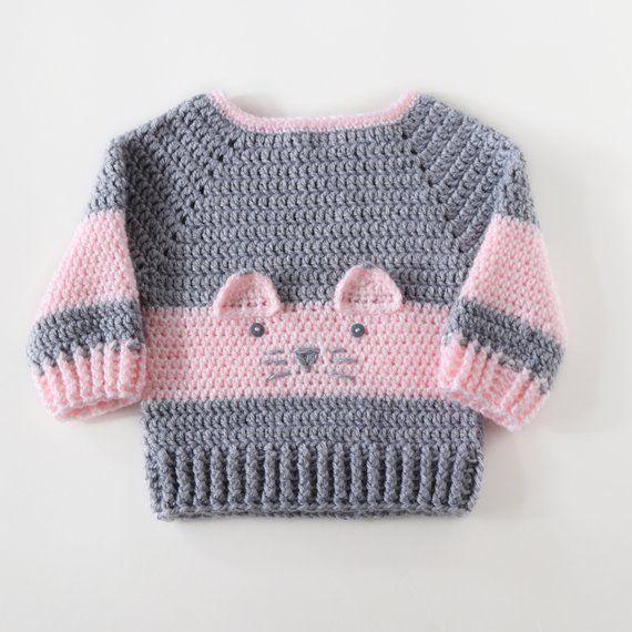 Baby Mädchen Pullover, Baby Strickjacken, Baby Girl Geschenk, 1. Geburtstagsgeschenk für Mädc…