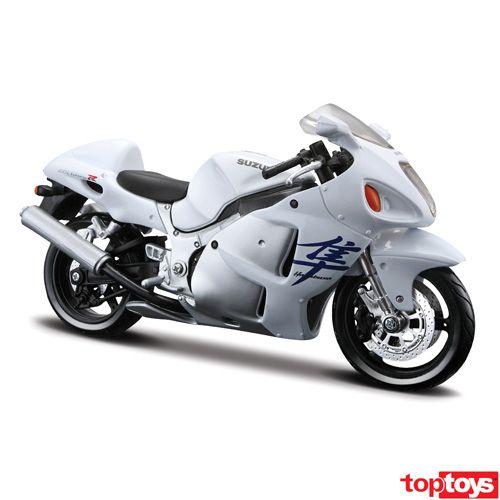Suzuki Gsx Hayabusa White Motorcycle Diecast Model By Maisto