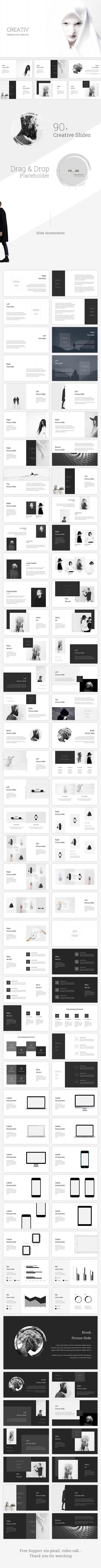 Creative Powerpoint Template - 90+ Unique Creative Slides