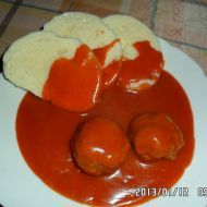 Fotografie receptu: Rajská omáčka s koulemi z mletého masa