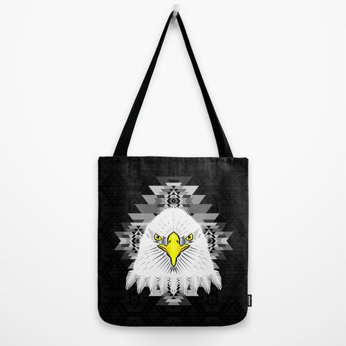 Geometric Eagle Tote Bag by chobopop | Society6