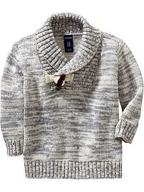 Marled Toggle-Front Sweaters for Baby
