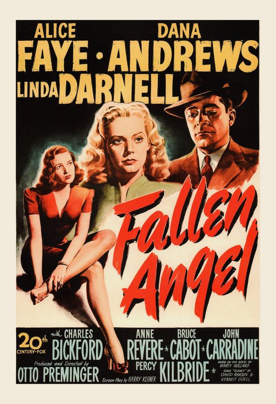 CLASSIC MOVIE POSTER Fallen Angels Movie by ArtDecoGallery
