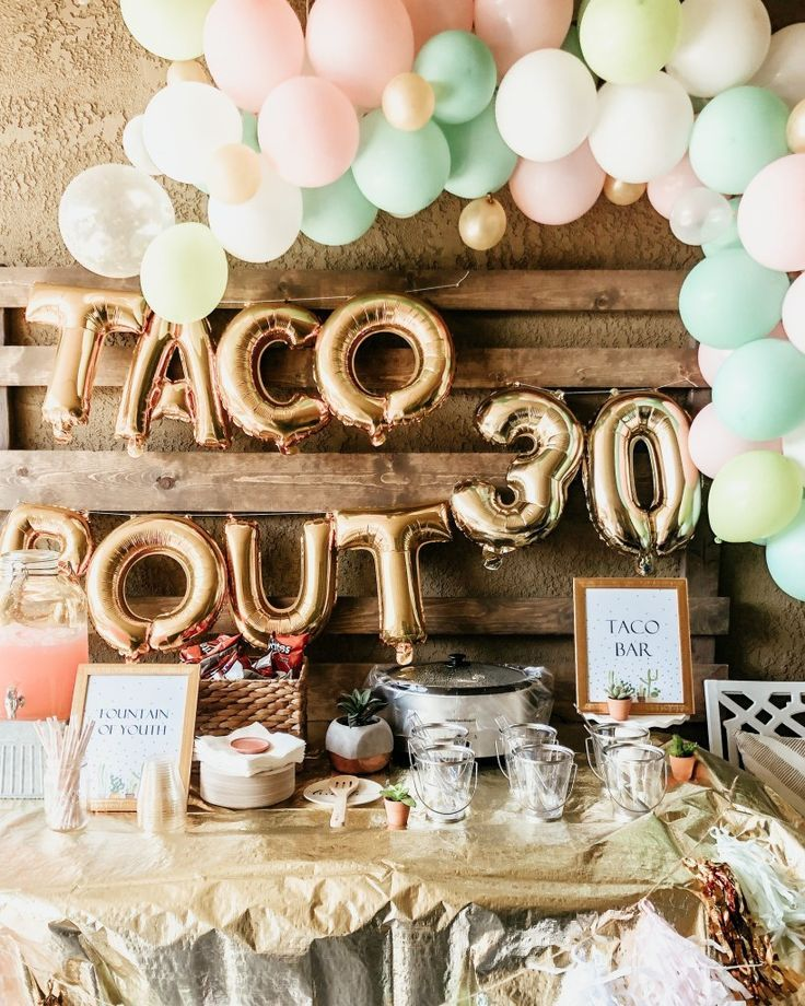 Taco Bout 30th Birthday Party In 2020 30th Birthday Parties 30th Birthday Party For Her 30th Birthday Themes