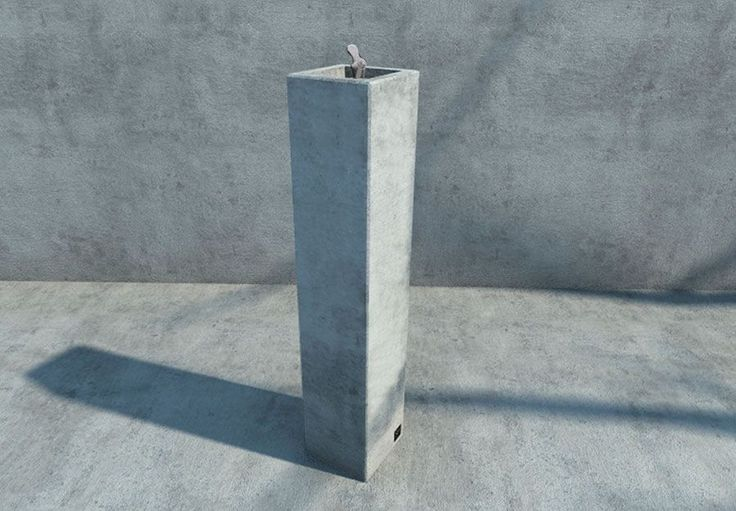 Outdoor drinking fountain / concrete - BASIC : COLUNA  - SIT URBAN DESIGN