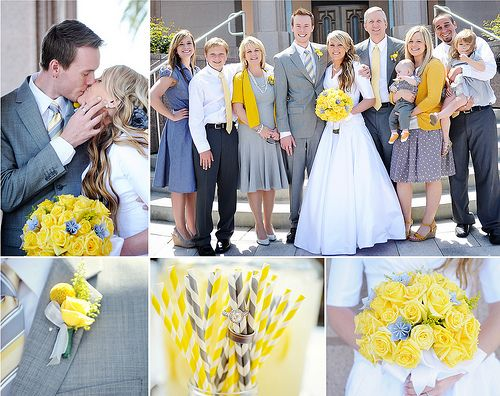 yellow and grey wedding @Elizabeth Lockhart Gerlach does this make you happy? Haha I'm deleting this later i just had to make you laugh...
