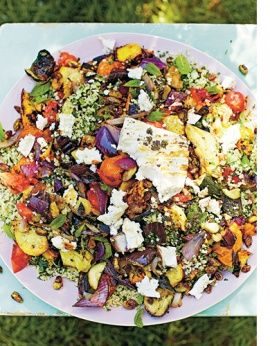 Jamie Oliver's Chargrilled Feta & Vegetables with Tabbouleh
