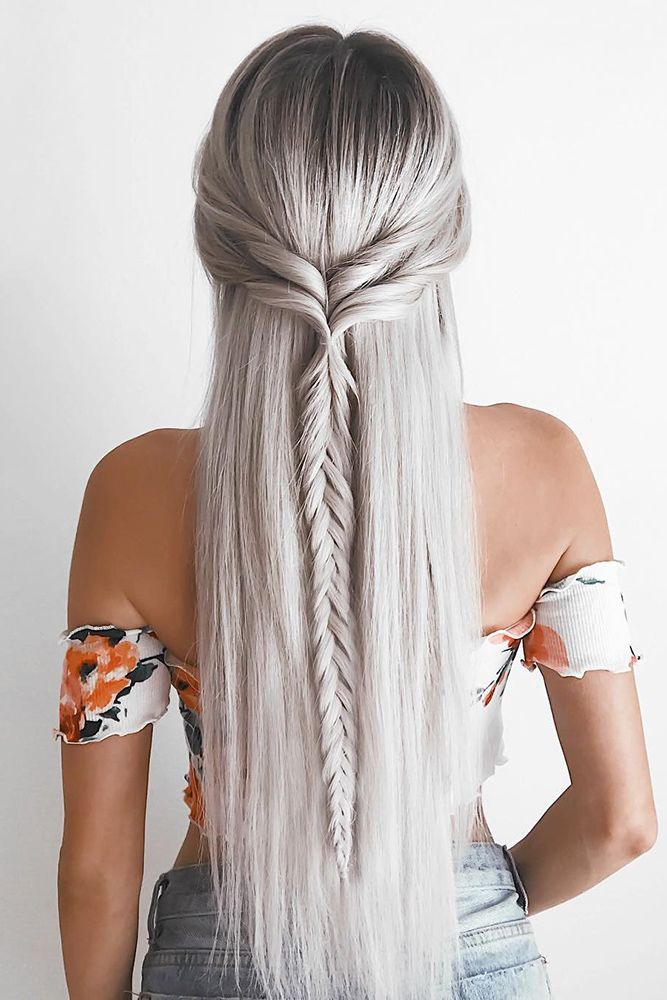 42 Amazing Boho Wedding Hairstyles For Tender Bride Wedding Forward Hair Styles Long Hair Styles Straight Hairstyles