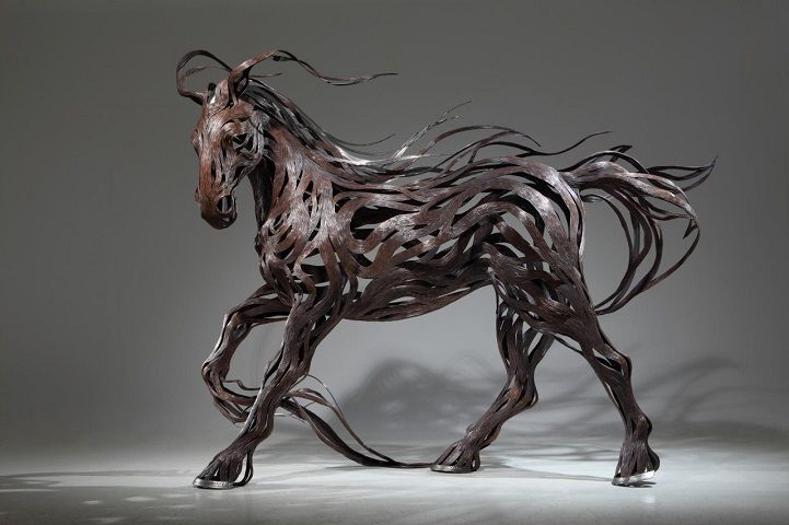 Les Sculptures animalières de Bandes métalliques de Sung Hoon Kang (16)