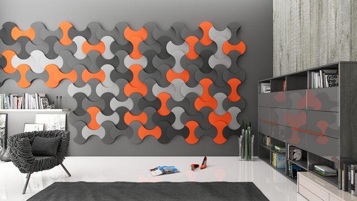 Miękkie panele ścienne 3D Fluffo, Fabryka Miękkich Ścian. Kolekcja Fluffo BOUNCE. www.fluffo.pl