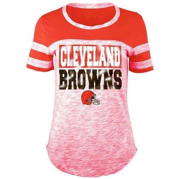 197f1c8b 5th & Ocean Women's Cleveland Browns Space Dye Foil T-Shirt ($38 ...