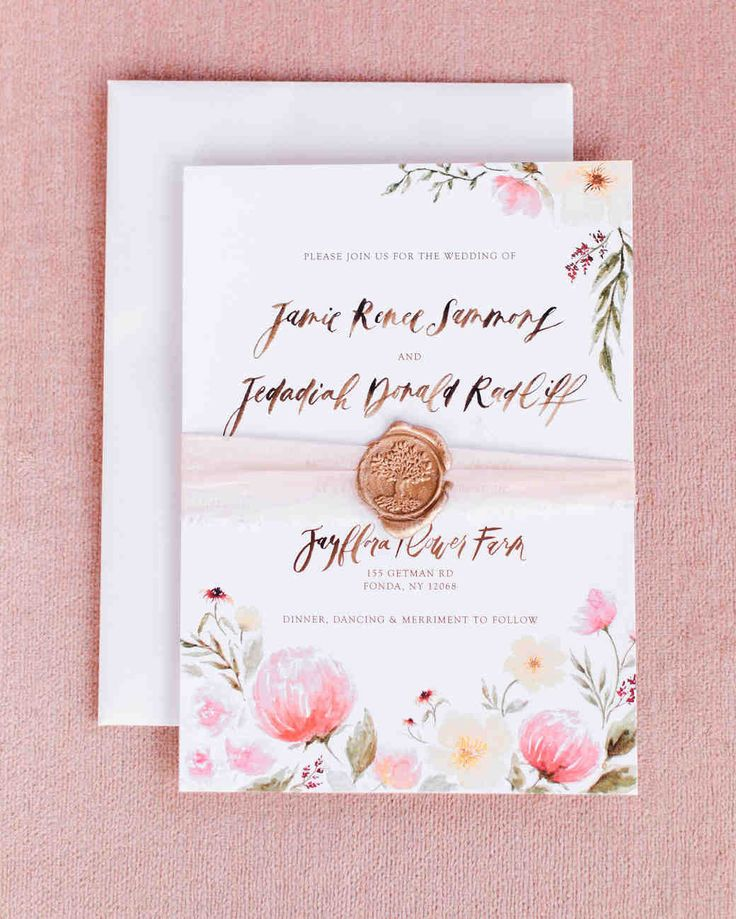Spring Wedding Ideas From Real Celebrations | Martha Stewart Weddings    This Wedding Invitation Was Illustrated
